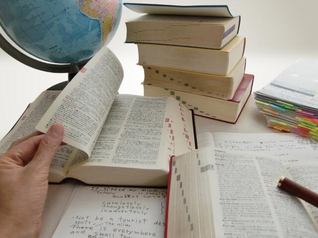 英語を勉強している
